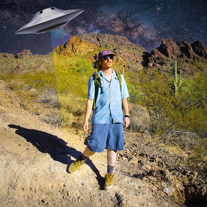 Professor Space Boogie // Today's Yesterday's Tomorrow   2017, digitally manipulated photograph.