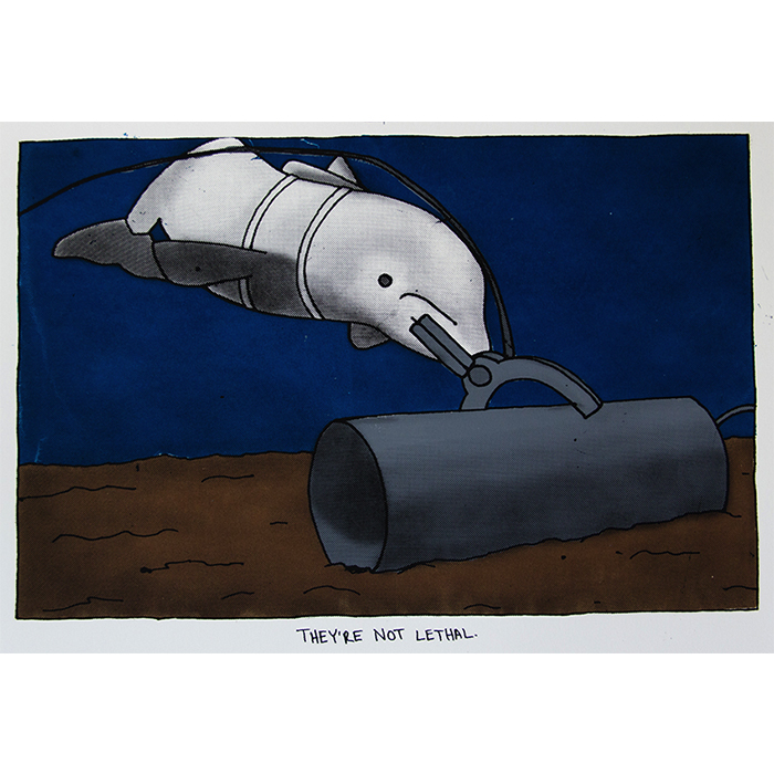 US Navy Marine Mammal Program,  silkscreen, 2015