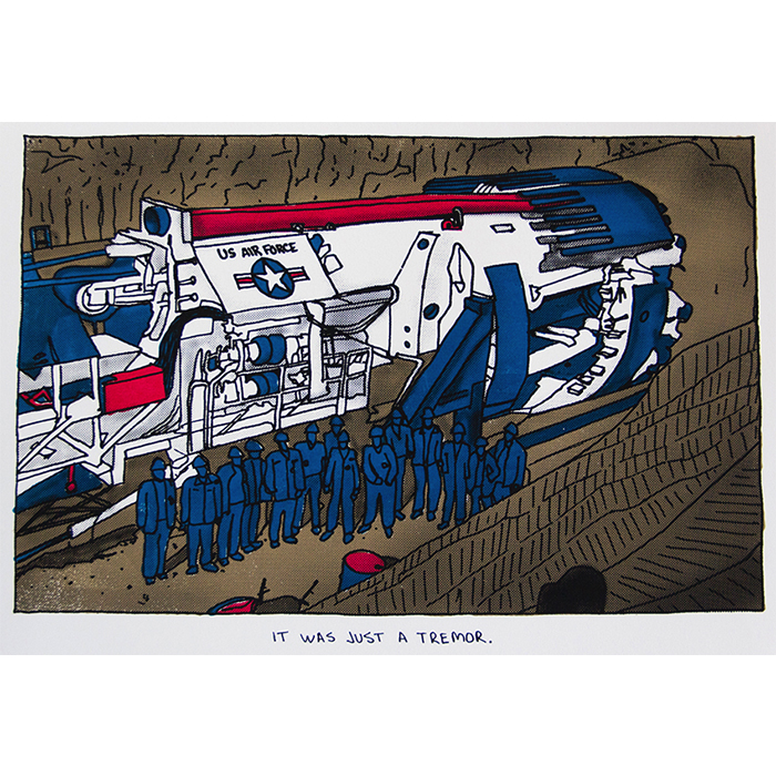 USAF Tunnel Boring Machine,  silkscreen, 2014