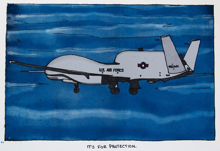 USAF UAV,  silkscreen, 2015