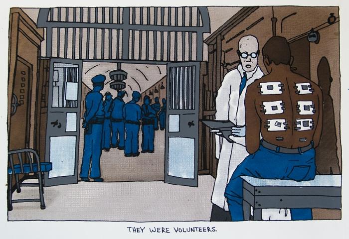 Statesville Penitentiary Malaria Experiment,  silkscreen, 2015