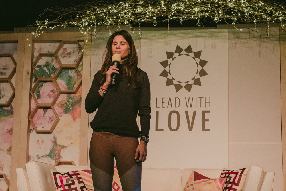 Gina Murdock Meditating at Lead with Love