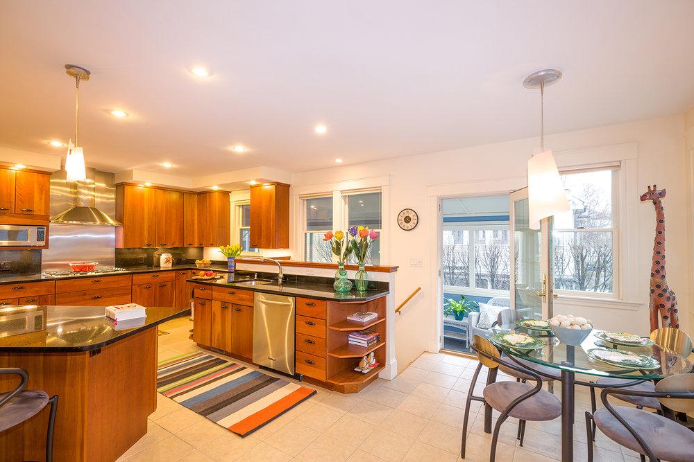 1500 - 110 Fayerweather Street Big Kitchen with porch.jpg
