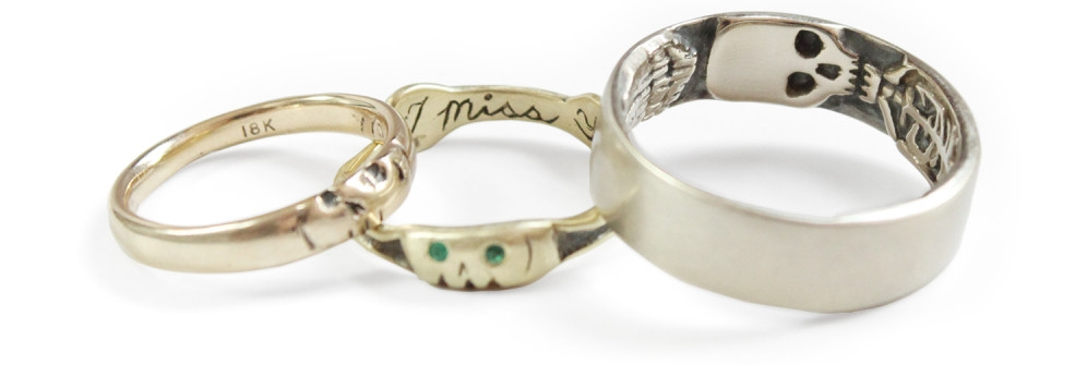 Memento Mori Ring from Bittersweet available at  Catbird