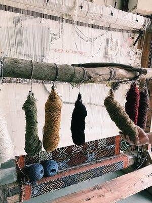 Wool Rugs Being Loomed