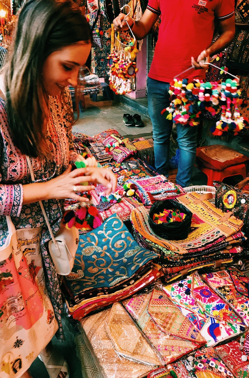 Shopping at Johari Bazaar