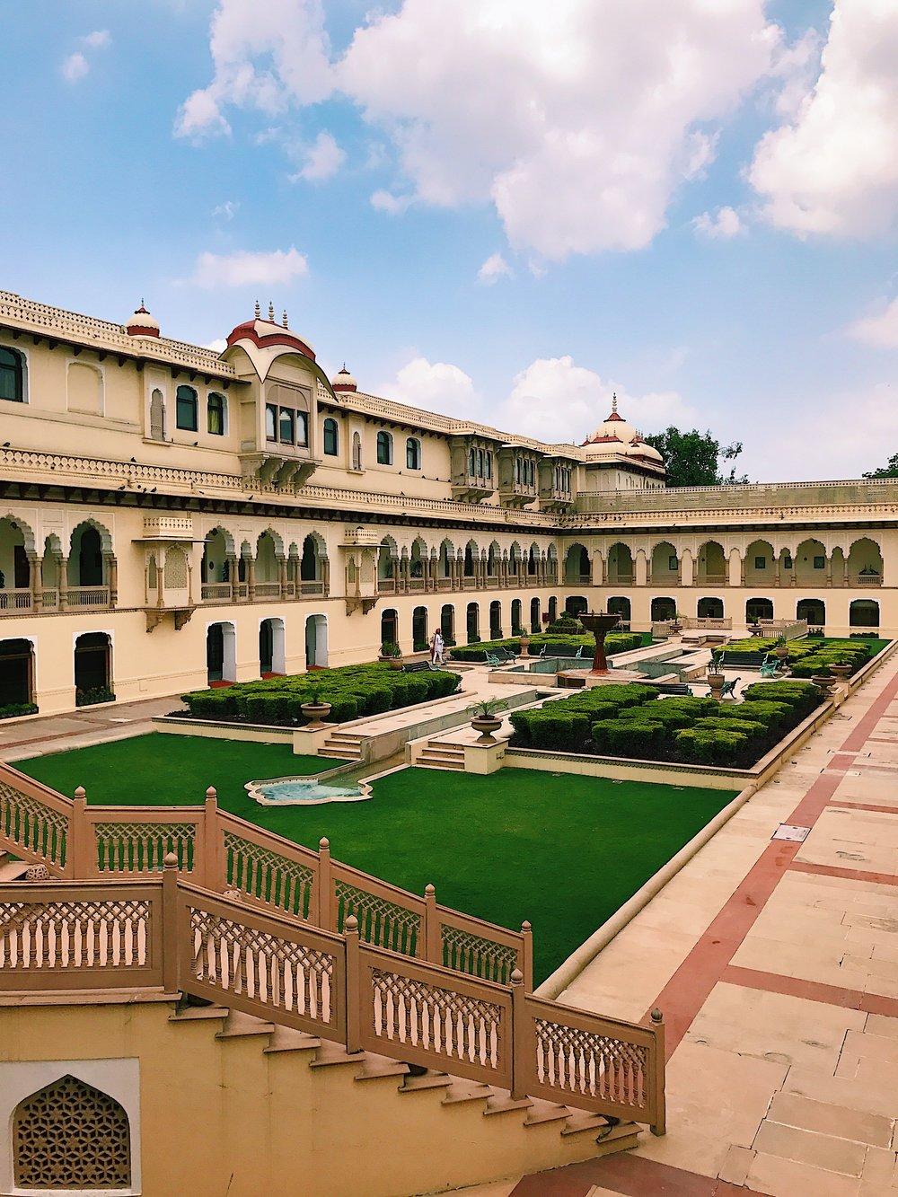 The Courtyard at Taj Rambaugh Palace