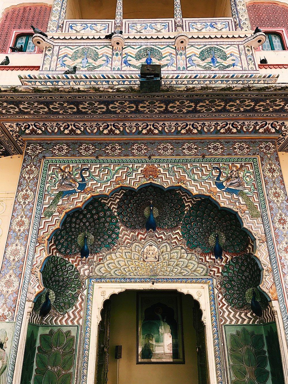 Jaipur City Palace- Peacock Gate