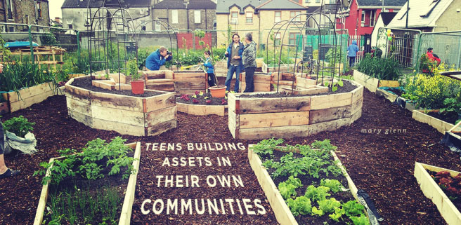 Community gardens allow everyone -- people of all ages -- to be a part of their communities in a meaningful way.