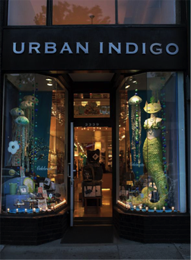 Urban Indigo Gift Shop, Oakland, California. The MerCats draw people in hook, line, and sinker!
