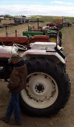 The variety and ages of tractors were a testament to how equipment stands the test of time, and how one producer's cast-off may be another's silver lining.