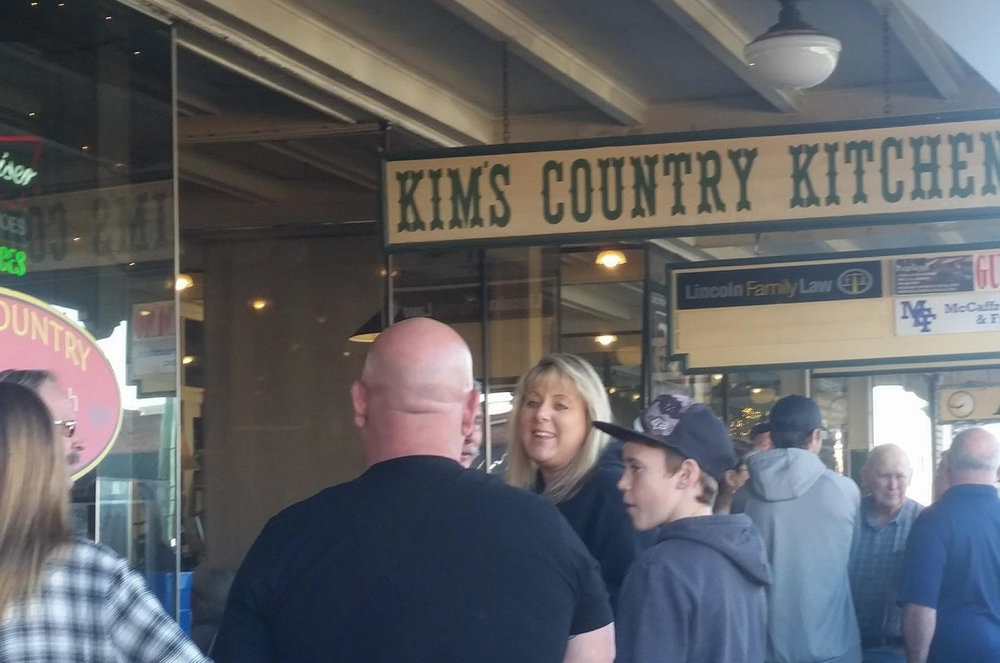 The old-timey sign brings diners into Kim's Country Kitchen in Lincoln, Calif. Good food and friendly service keep them coming back.