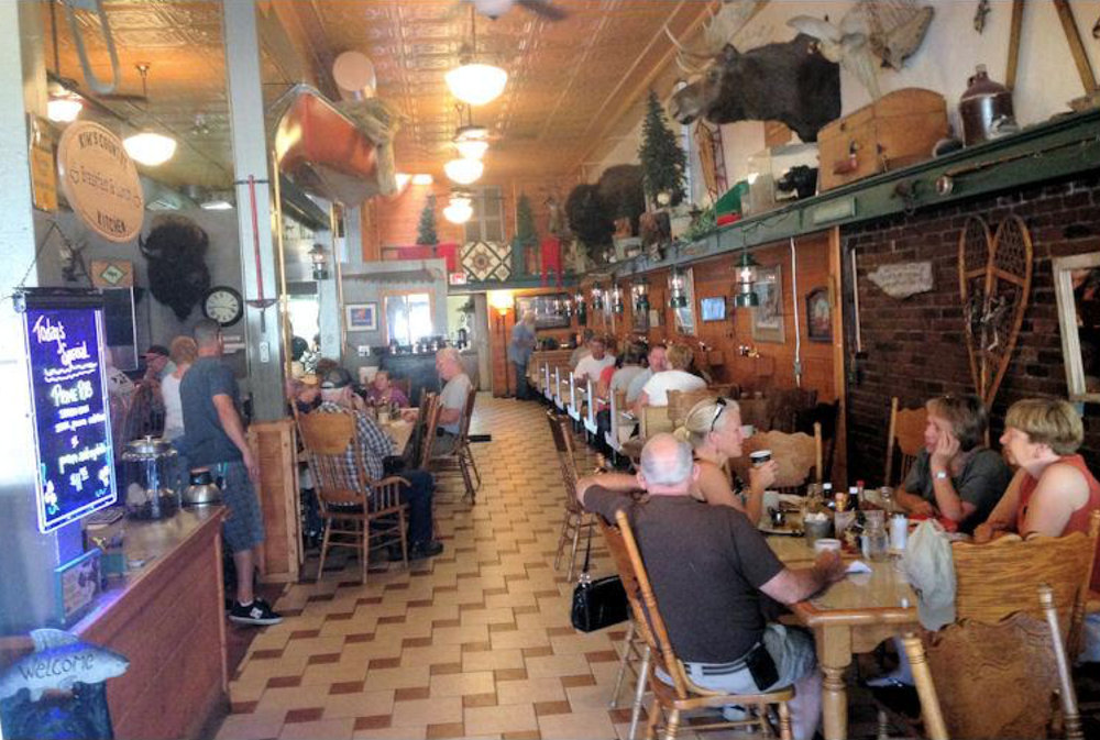 The local flair of Kim's Country Kitchen gives diners plenty to talk about.