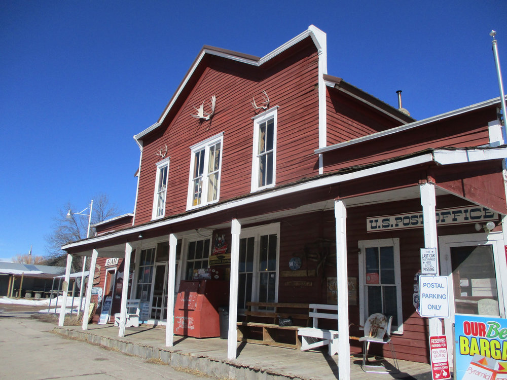 The Aladdin Mercantile is also an example of local architecture -- false fronts were a common practice when it was built in the late 1800s