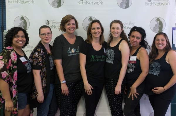 Tampa Bay Birth Network Board at this year's Tampa Birth and Baby Expo. Photo by Christina Kulak Photography