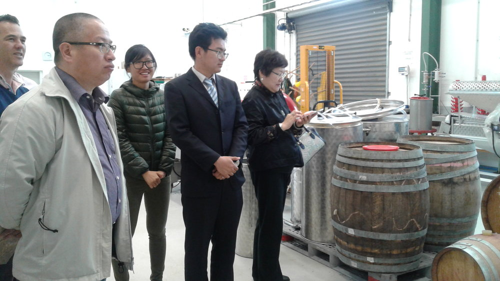 Agents visit NMIT's Wine Making Facilities in Marlborough