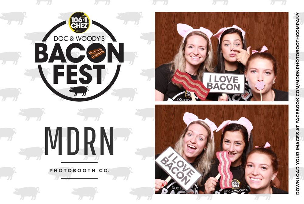 Bacon Themed Photo Booth