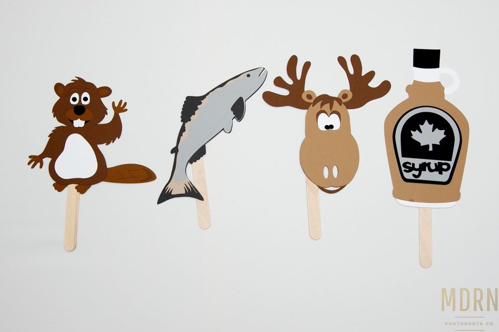 Canadiana Photobooth Animal Props