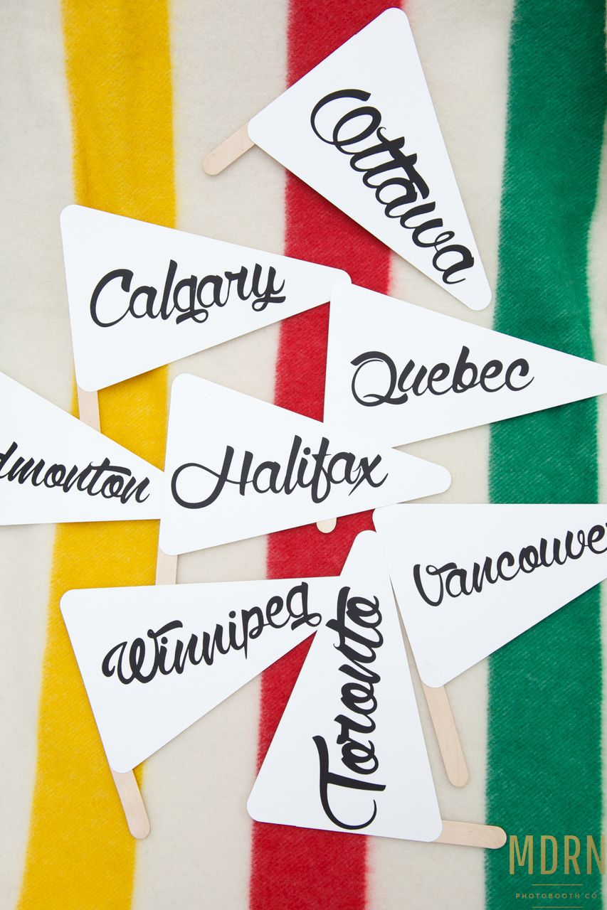 Canadiana Photobooth Prop Flags