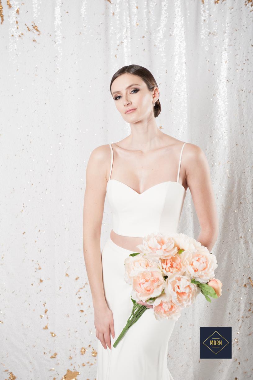 Mid Drift wedding dress