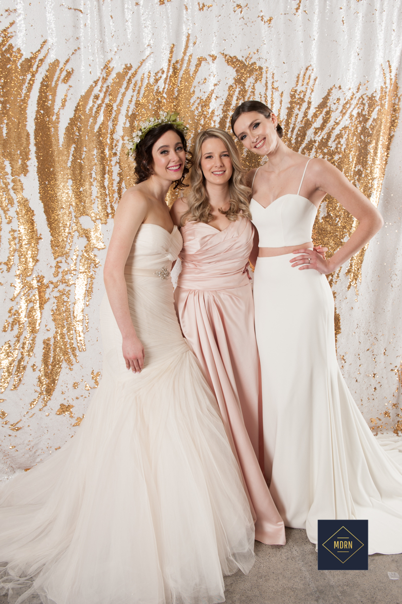 White and Blush Wedding Photo booth