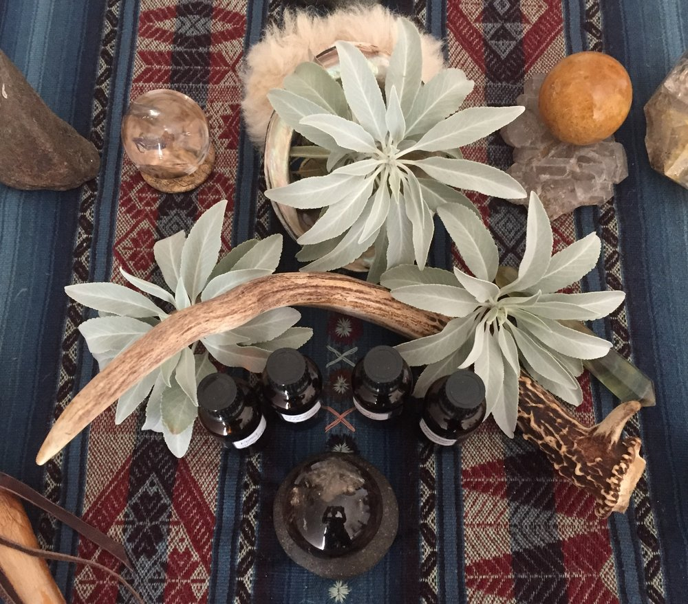 Essential oil blends marrying on the mesa