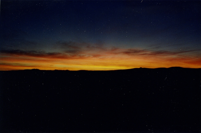 Chaco Canyon Nightfall 1998 – Photo: Bill Hertzog