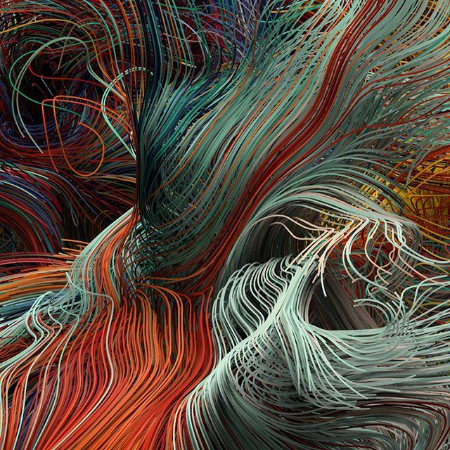 Strands II #Houdini #sideFX #VEX #VOPS #Volumes #VDB #Procedural #Generative #Mantra #Noise #Math