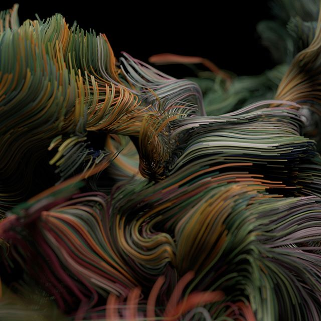 Strands #Houdini #sideFX #VEX #VOPS #Volumes #VDB #Procedural #Generative #Mantra #Noise #Math