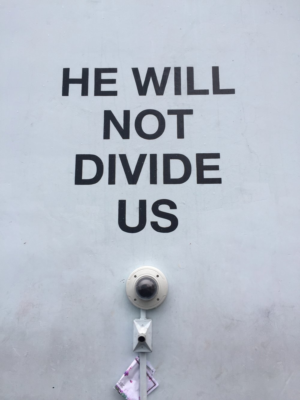 He Will Not Divide Us                           Public demonstration meets the digital age.