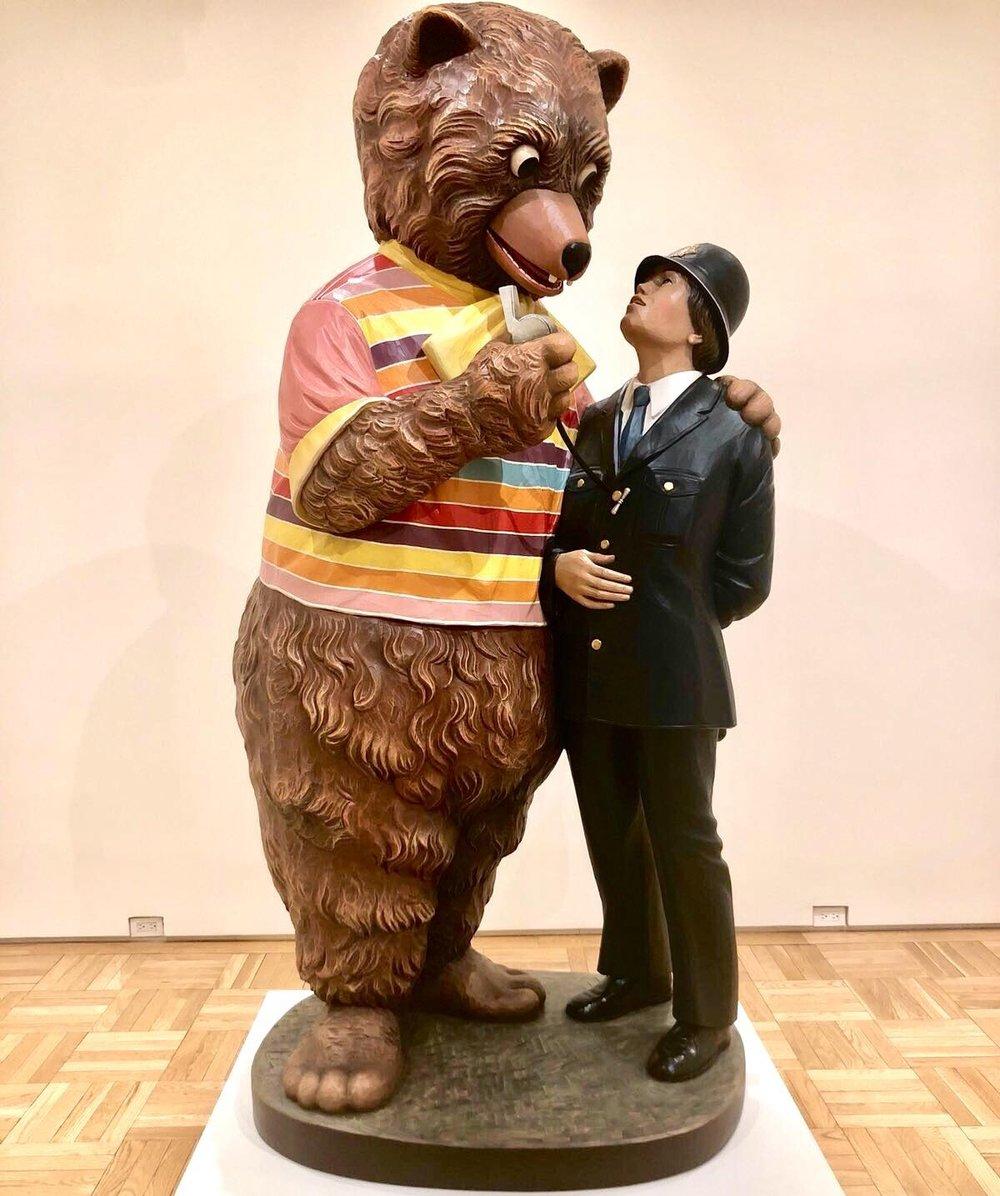 Jeff Koons,    Bear and Policeman   ,1988