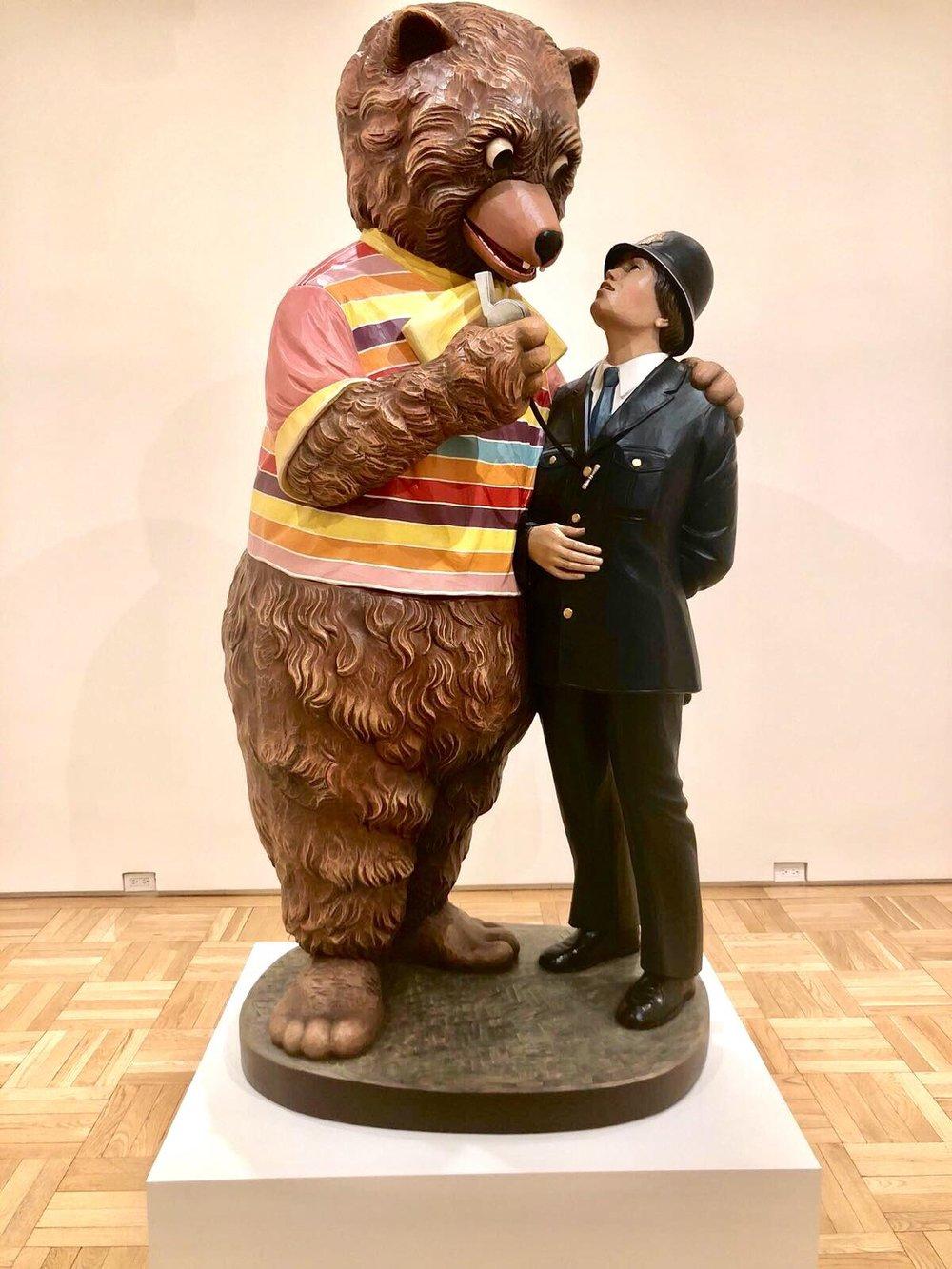 Jeff Koons,  Bear and Policeman , 1998