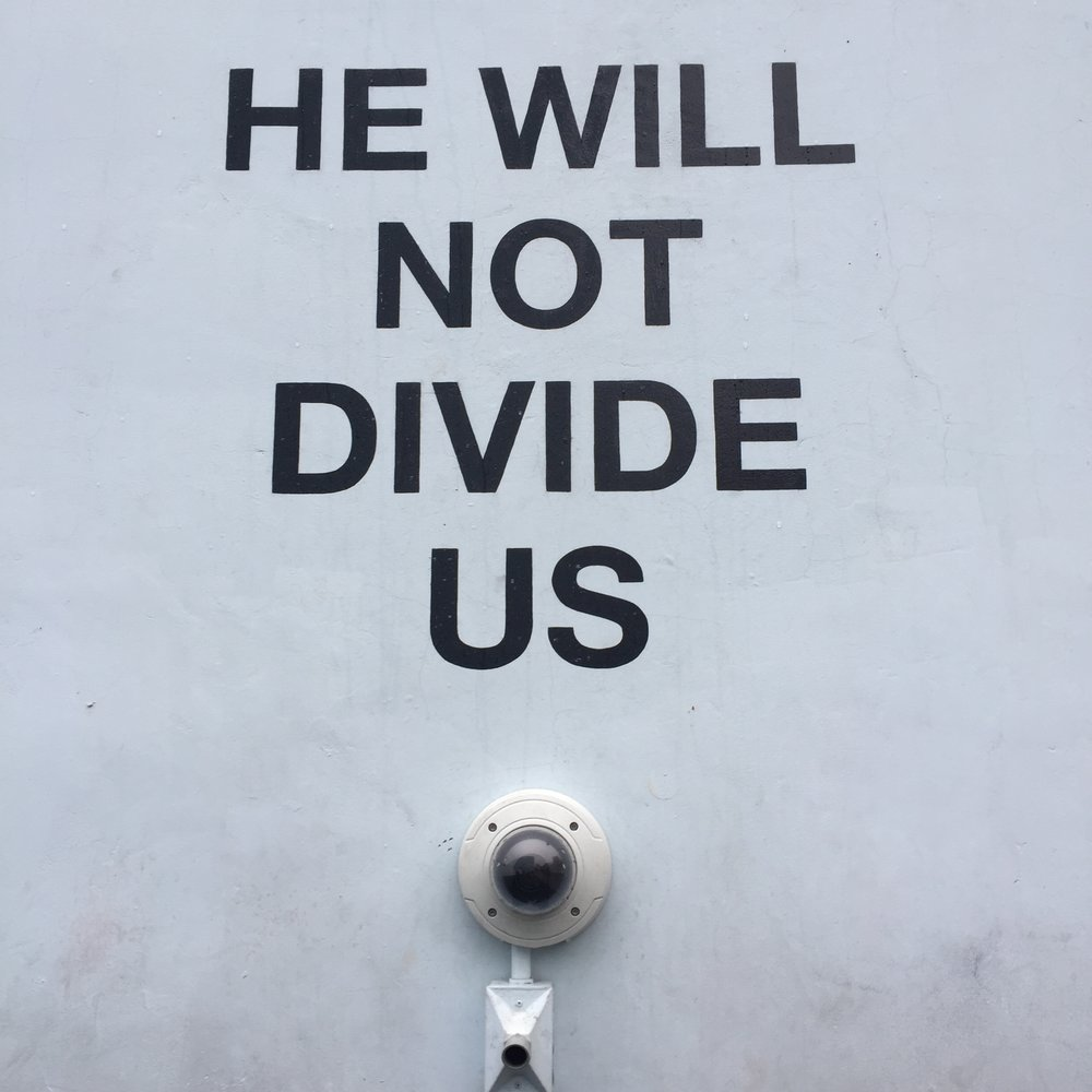 He Will Not Divide Us - At the start of the new year, political unrest in the United States had reached a boiling point.