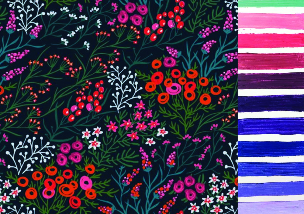 Color Pallette - fun & floral