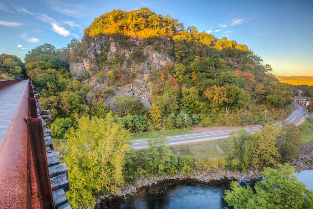Rosendale Trestle, Joppenbergh Mountain, Fall, Sunset, Rosendale, New York, USA5.jpg