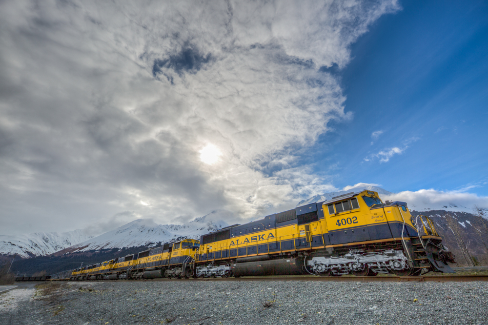 Train in Seward, Alaska, USA