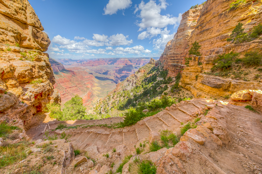 South Kaibab Trail at the South Rim of the Grand Canyon