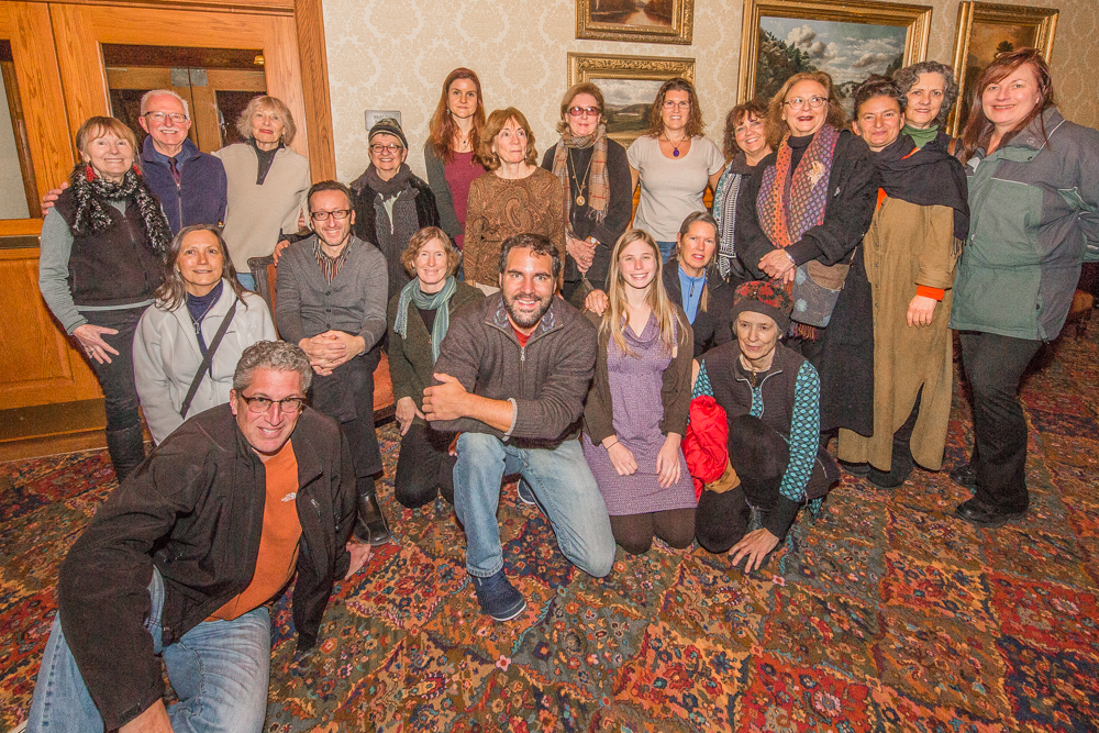Sevan and several artists at Mohonk Mountain House