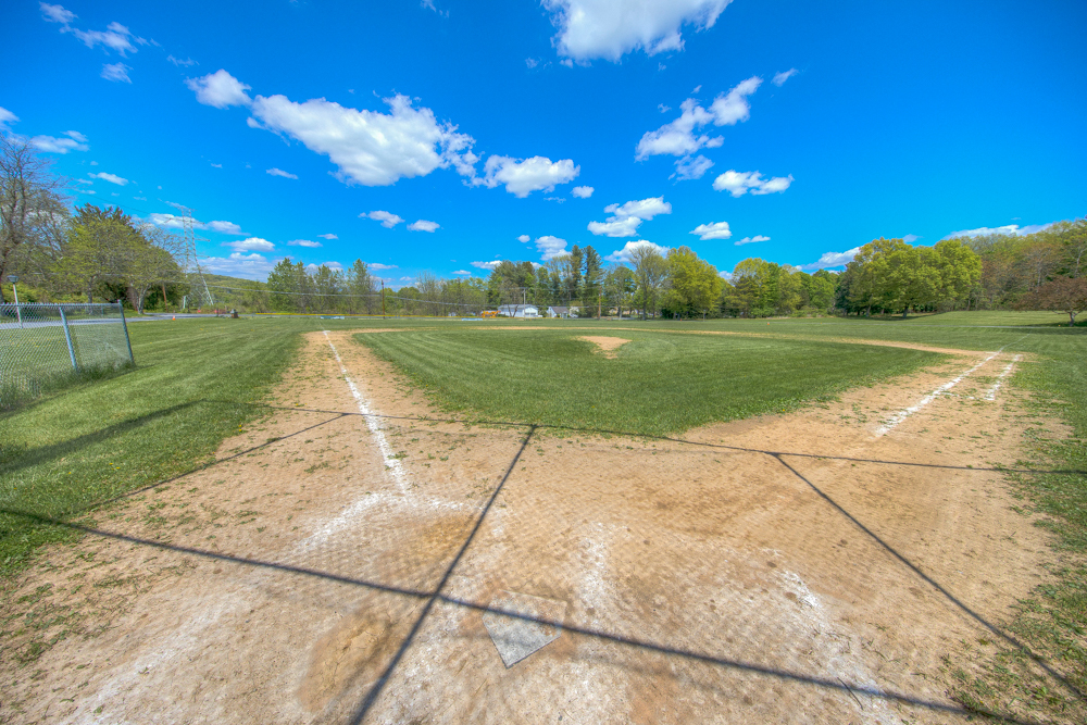 The baseball field