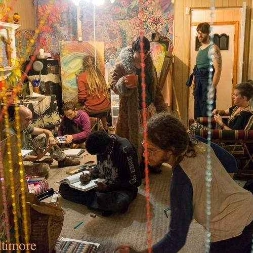Art Night at first Art Nest  - Photo by TLC Baltimore