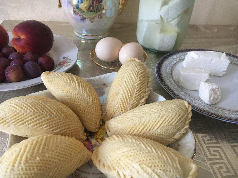 Azerbaijani homemade cheese and pastries