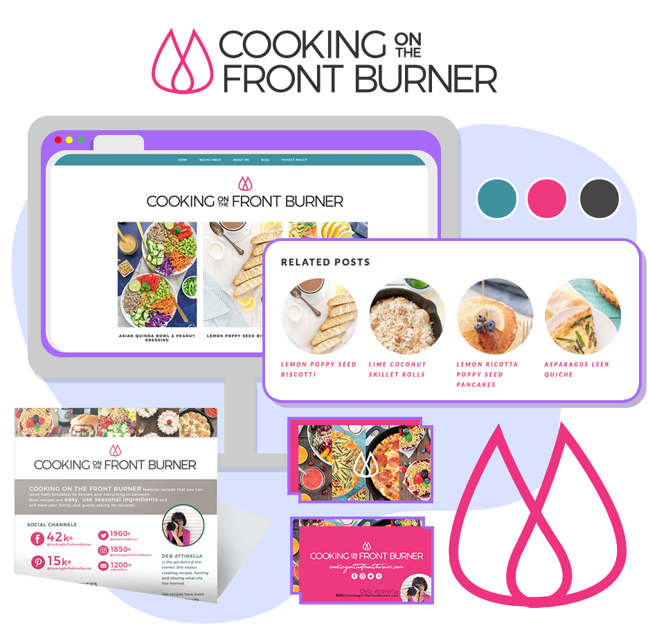 Cooking on the front burner wordpress makeover design
