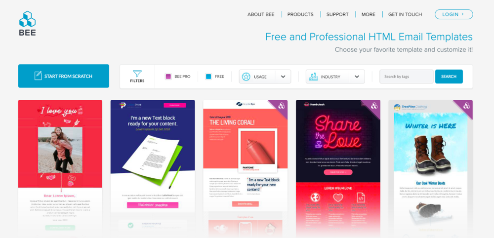Bee free html email creator free design resources for freelancers