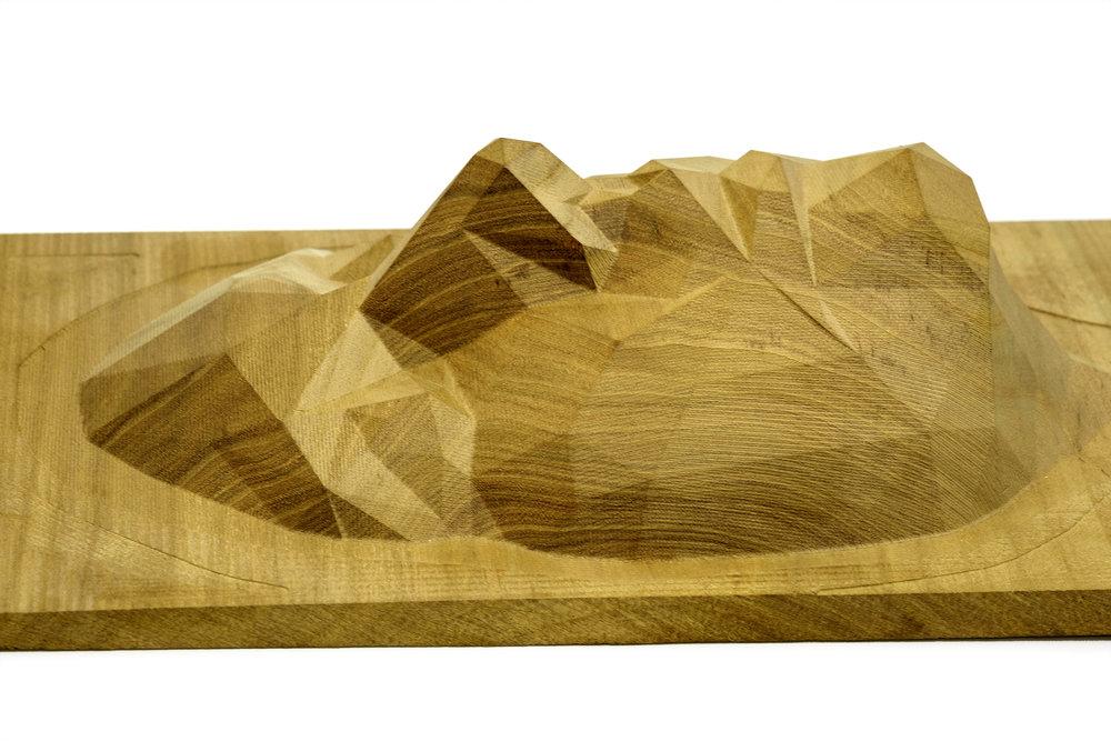tête en bois usinée 300 x 200mm