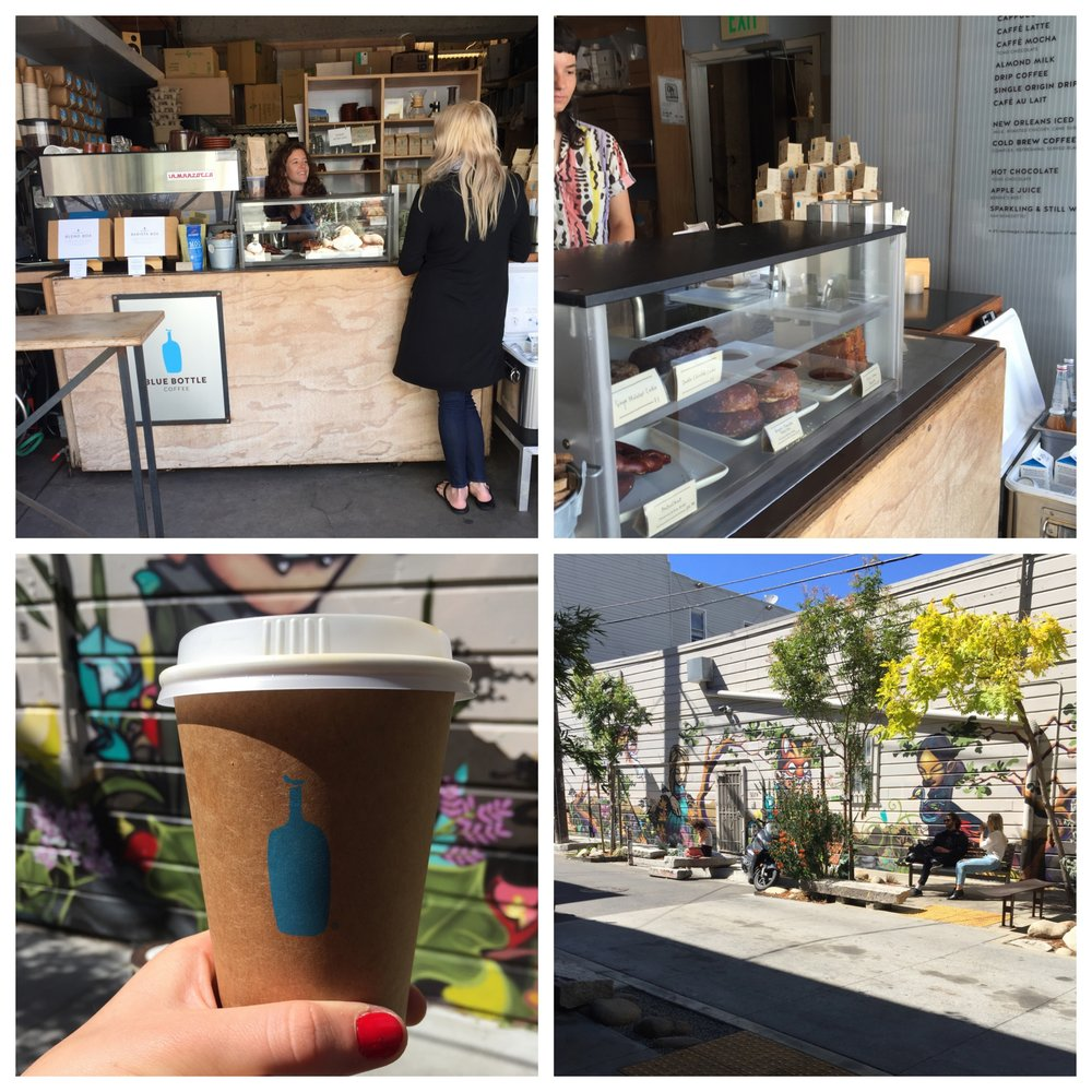 Blue bottle, Linden street.