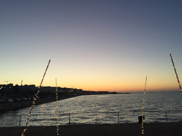 The 6:30 a.m. sunrise at K Urban Beach nightclub.