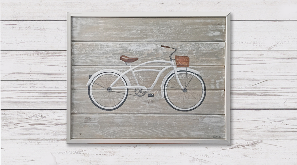 White Beach Cruiser - Sold