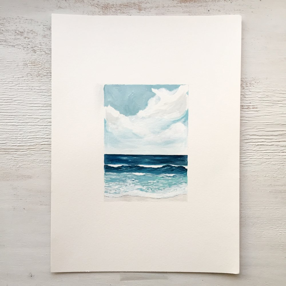 Seascape on Paper - 100 - SOLD