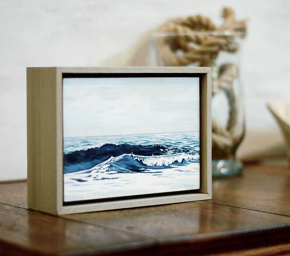 Seascape Painting in Frame