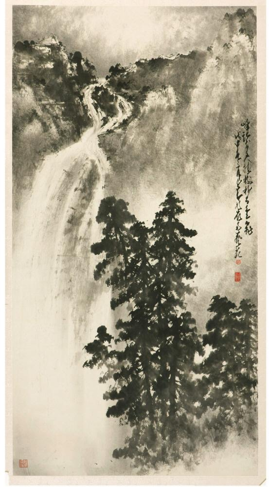Waterfall  Date: 1968 Materials: Ink on paper
